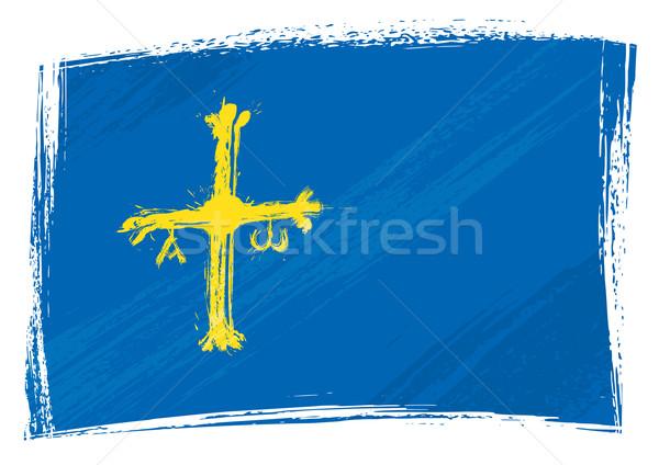 Grunge Asturias flag Stock photo © oxygen64
