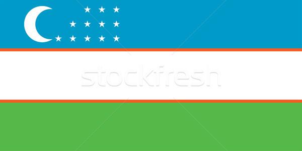 Üzbegisztán zászló vektor köztársaság Stock fotó © oxygen64