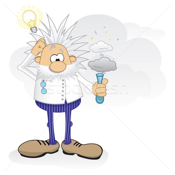 天才 作業 漫画 クレイジー 科学 危険 ストックフォト © oxygen64