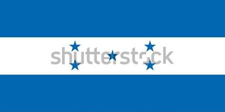 Honduras bandiera vettore repubblica Foto d'archivio © oxygen64