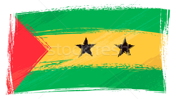 Grunge Sao Tome and Principe flag Stock photo © oxygen64