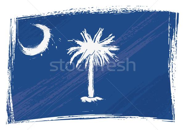 グランジ サウスカロライナ州 フラグ スタイル ストックフォト © oxygen64
