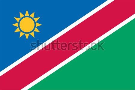 Namibia banderą wektora republika Zdjęcia stock © oxygen64