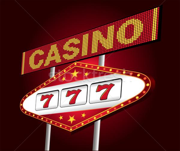 Casino neon groot Rood een arm Stockfoto © oxygen64