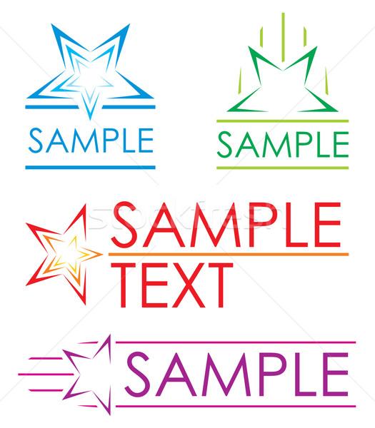 Foto stock: Estrellas · colorido · pictogramas · estrellas · negocios