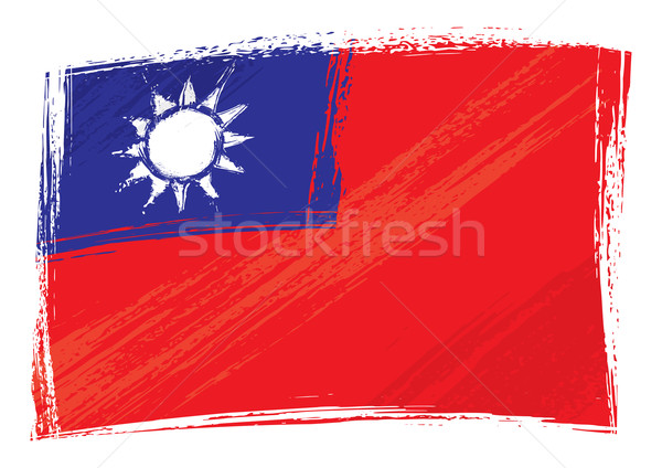Grunge Taiwan flag Stock photo © oxygen64