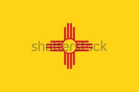 Novo México bandeira vetor Foto stock © oxygen64
