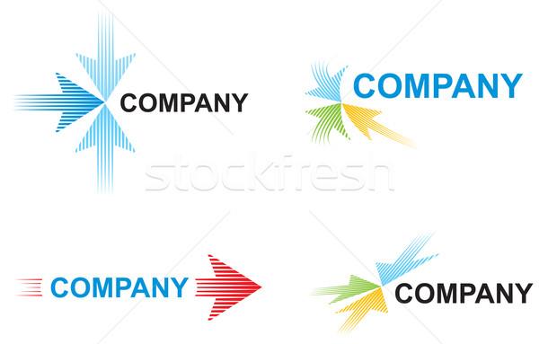 Logo sjablonen pijlen snelheid business ontwerp Stockfoto © oxygen64
