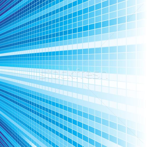 Mavi ışık perspektif soyut dizayn hızlandırmak Stok fotoğraf © oxygen64