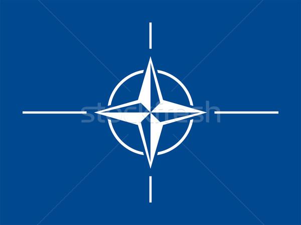 Zászló vektor fenyegetés izolált illusztráció Stock fotó © oxygen64