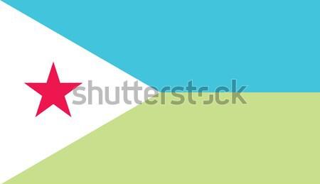 Dzsibuti zászló vektor köztársaság Stock fotó © oxygen64