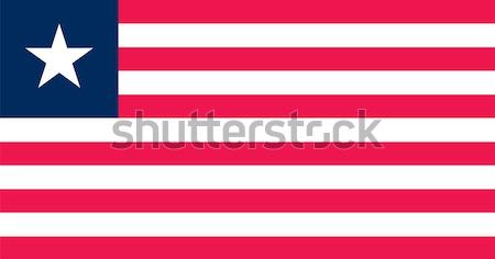Liberia flag Stock photo © oxygen64
