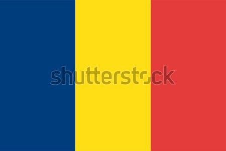 ルーマニア フラグ ベクトル ストックフォト © oxygen64