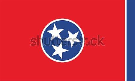 Tennessee banderą wektora Zdjęcia stock © oxygen64