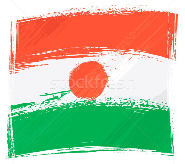 Гранж Нигер флаг стиль Сток-фото © oxygen64