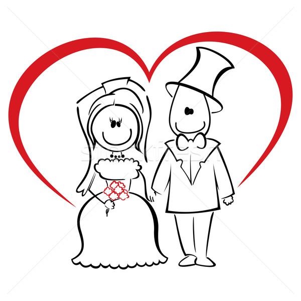 Cerimonia di nozze lo sposo sposa piedi holding hands fiore Foto d'archivio © oxygen64