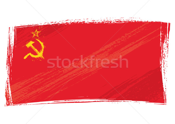 Grunge Soviet Union flag Stock photo © oxygen64