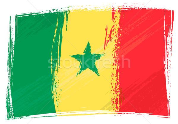 Grunge Szenegál zászló stílus Stock fotó © oxygen64