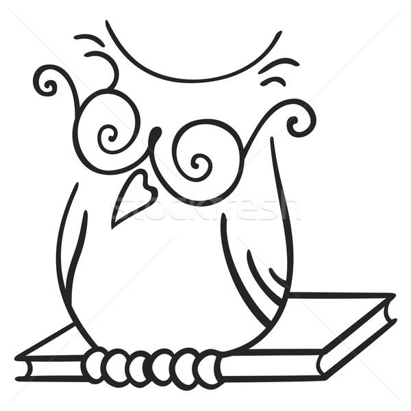 Bilgelik simge örnek baykuş kitap imzalamak Stok fotoğraf © oxygen64