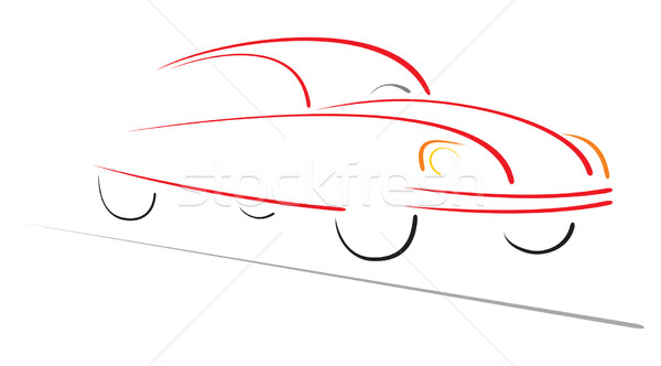 Racing car on road Stock photo © oxygen64