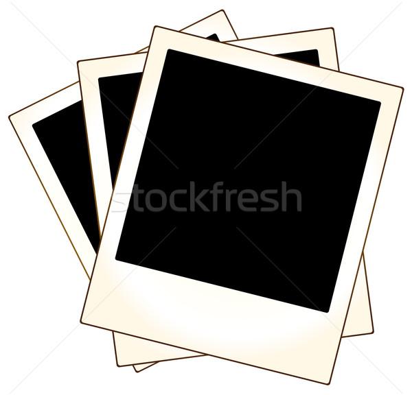 Foto stock: Polaroid · foto · quadros · pronto · projeto · retro