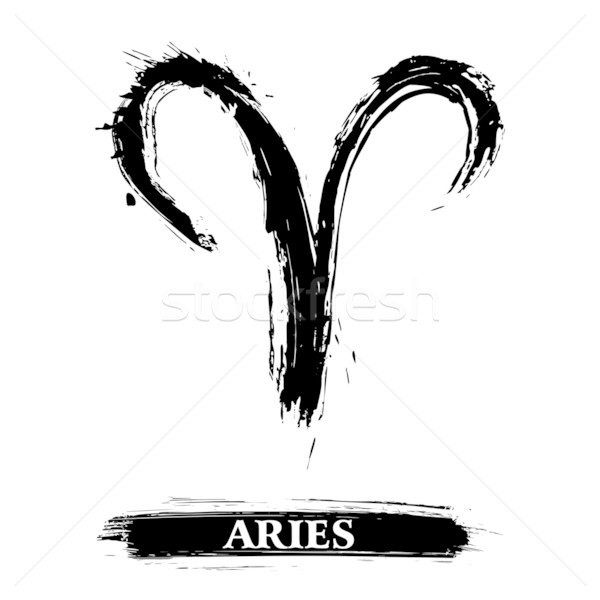 Aries symbol Stock photo © oxygen64