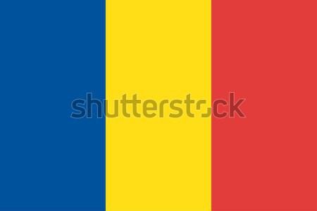 Chad bandera vector república Foto stock © oxygen64