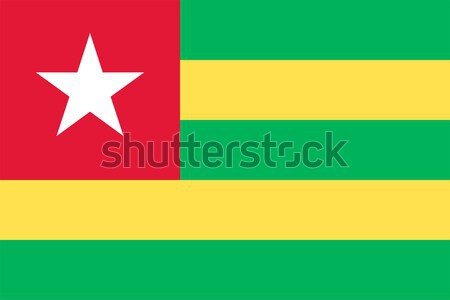 Togo bandiera vettore Foto d'archivio © oxygen64