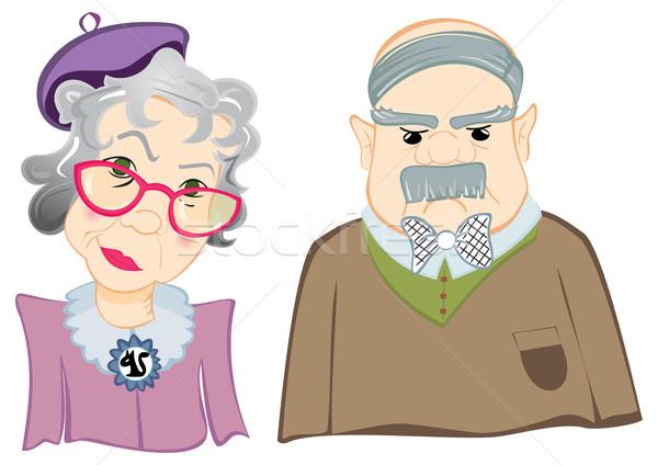 Dedesi portre dede büyükanne örnek kadın Stok fotoğraf © oxygen64