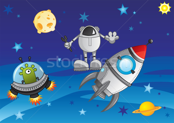 Adventure in cosmos Stock photo © oxygen64