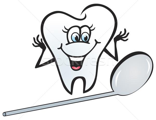Boldog fog illusztráció néz tükör orvosi Stock fotó © oxygen64
