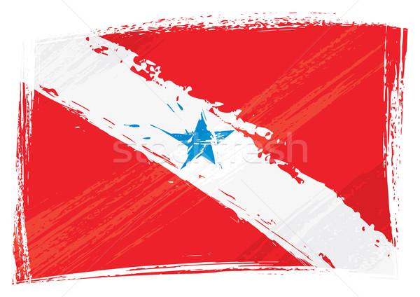 Foto stock: Grunge · bandeira · estilo · país · isolado