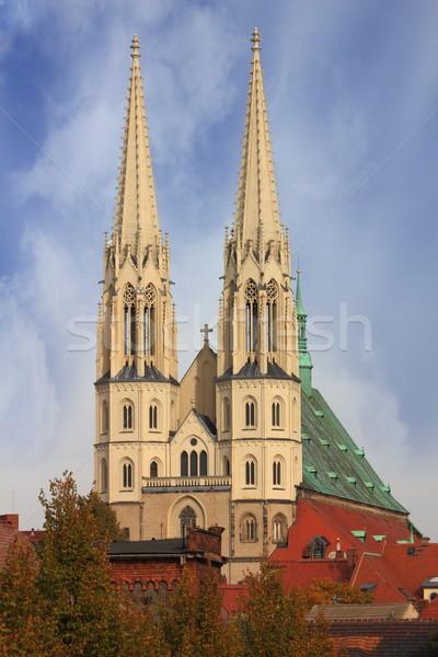 Stockfoto: Tempel · kerk · architectuur · christ · stad · middeleeuwse