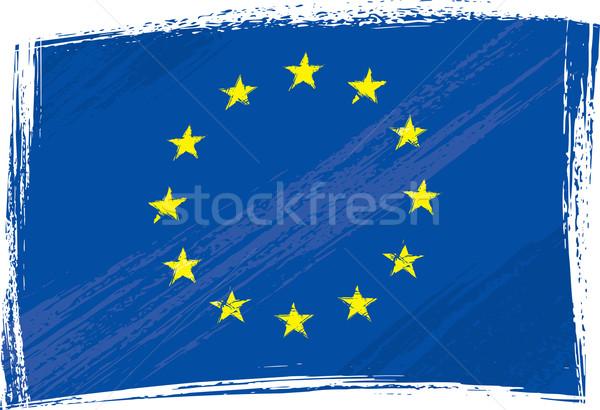 Grunge European Union flag Stock photo © oxygen64