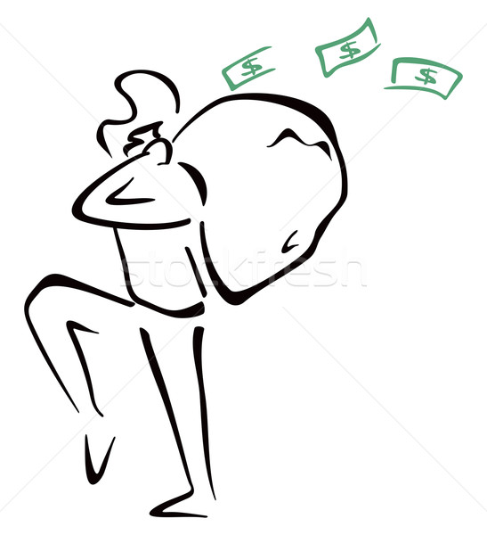 Robber with bag Stock photo © oxygen64