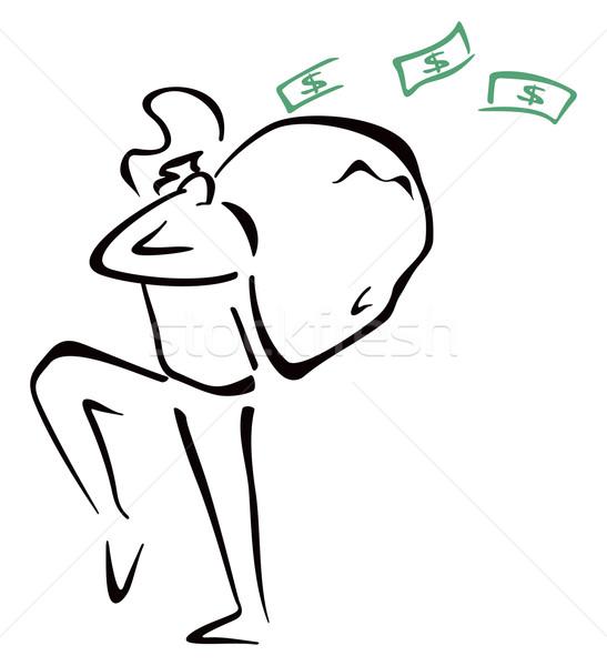 Soyguncu çanta örnek hırsız para Stok fotoğraf © oxygen64