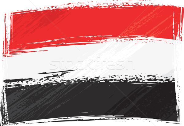 Гранж Йемен флаг стиль фон Сток-фото © oxygen64