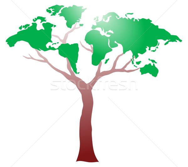 Fa világ zöld növény bolygó mezőgazdaság Stock fotó © oxygen64
