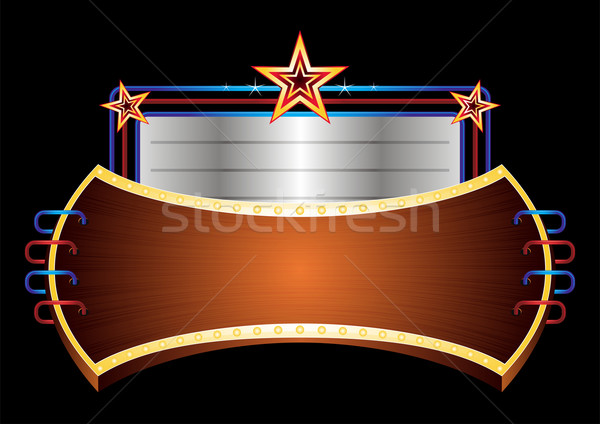 Shiny banner with stars  Stock photo © oxygen64