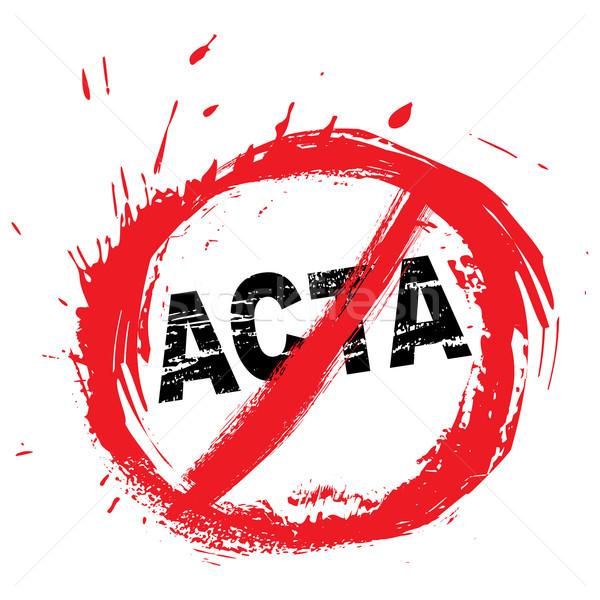 No ACTA symbol Stock photo © oxygen64