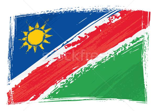 Grunge Namíbia zászló stílus háttér Stock fotó © oxygen64