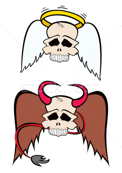 Angel and Devil Stock photo © oxygen64