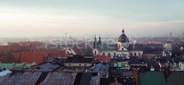 Kerk krakow binnenkant oude binnenstad stad Europa Stockfoto © pab_map