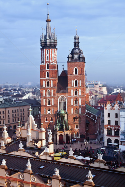 Церкви Краков городского Готский Европа башни Сток-фото © pab_map
