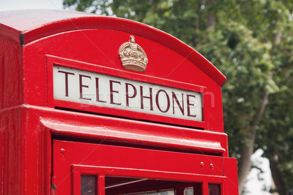 Rood telefoon kraam Londen straat dag Stockfoto © pab_map