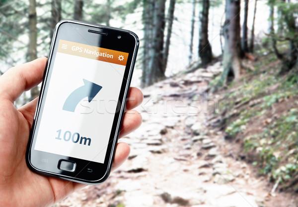 Strony smartphone GPS nawigacja ekranu Zdjęcia stock © pab_map