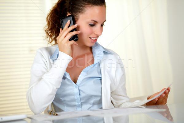 Joli femme d'affaires bureau femme fille Photo stock © pablocalvog