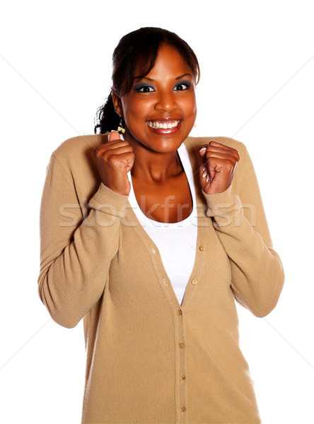 Adult woman with a winning attitude Stock photo © pablocalvog