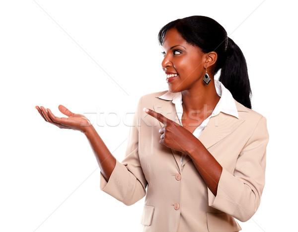 Zdjęcia stock: Dość · wykonawczej · kobieta · patrząc · wskazując