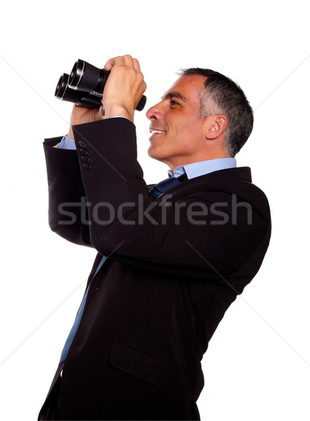 Supérieurs exécutif portrait jumelles costume noir Photo stock © pablocalvog